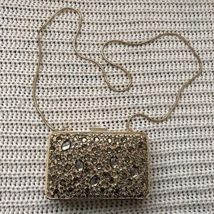 Gold clutch never been used no tag